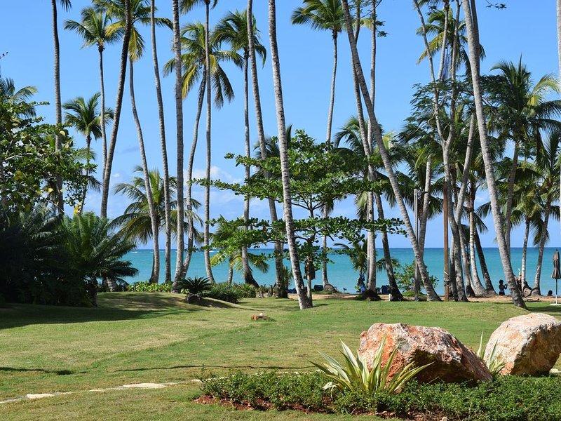 Playa Bonita Beachfront: Bright, First  Storey Condo, Steps to the Beach, vacation rental in Samana Province