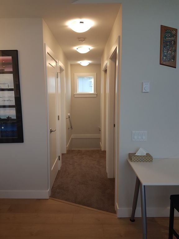 Entrance hallway (with stairs to the right of the window)