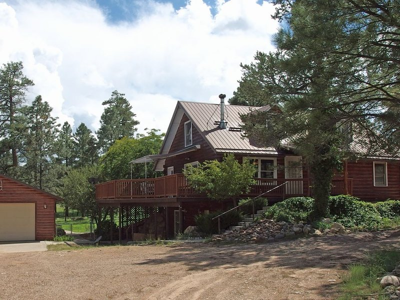 Perfect Family Cabin in the Pines - 2 Acre Yard!, holiday rental in Forest Lakes