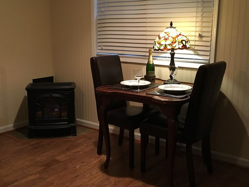 Romantic dining by the fire!