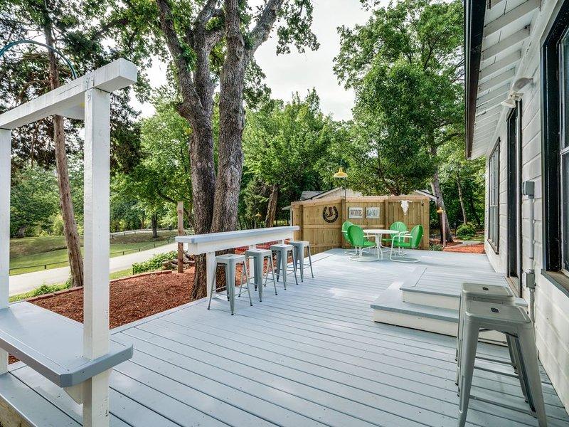 Spend quiet evenings enjoying the outdoor patio.