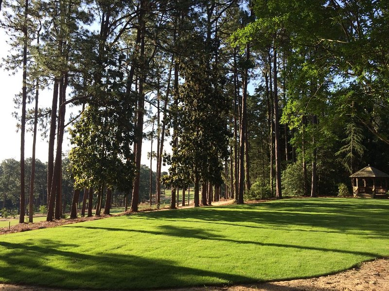 Back Yard with views of the Mid Pines Golf Club!