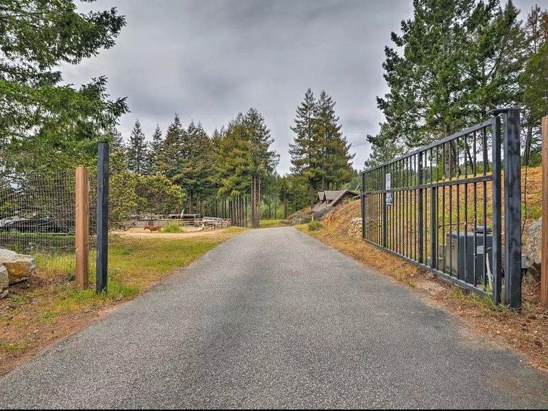 Porte électrique principale du ranch