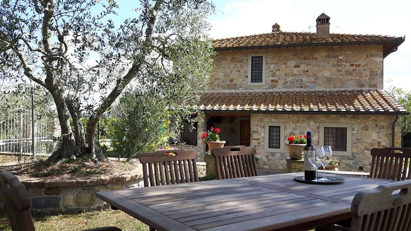 Your panoramic house in Tuscany between vineyards and olive groves., aluguéis de temporada em Barberino Val d'Elsa
