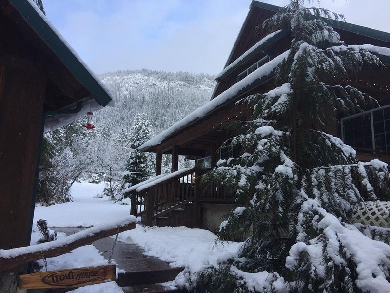 Trout House on the Road to Mt. Rainier, holiday rental in Elbe