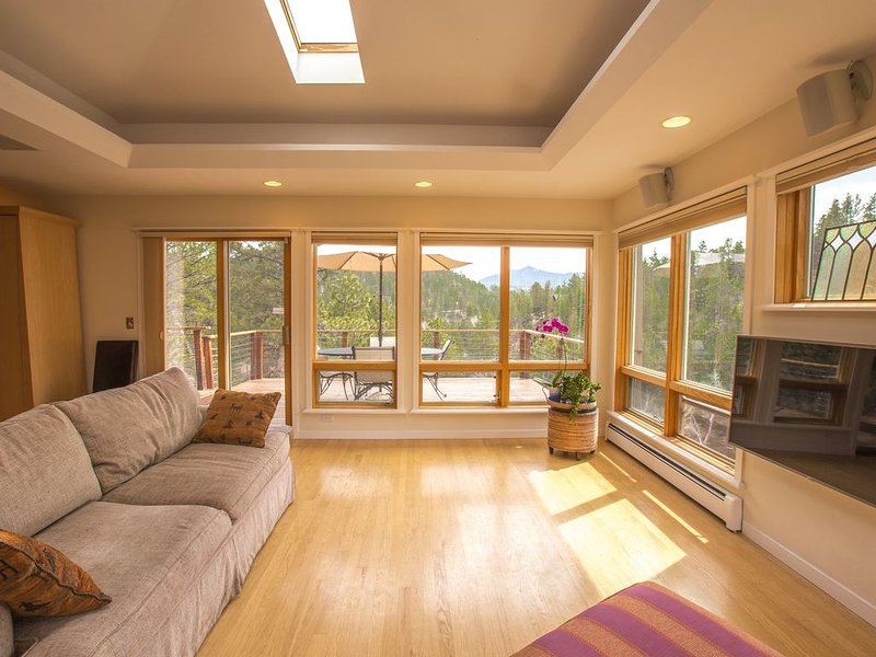 Living room and view from main deck
