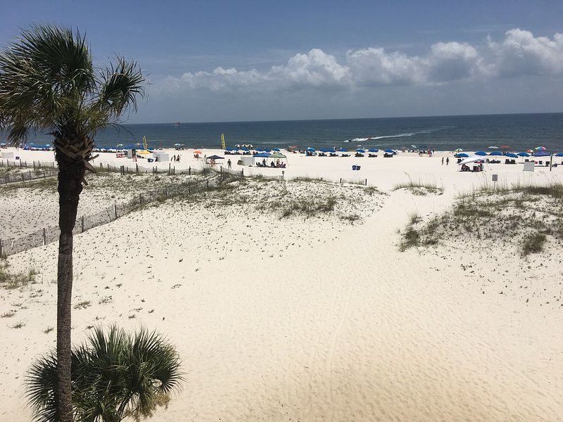 Southern Sands 206/Beach Front/Dolphin watching from the balcony!, alquiler de vacaciones en Gulf Shores