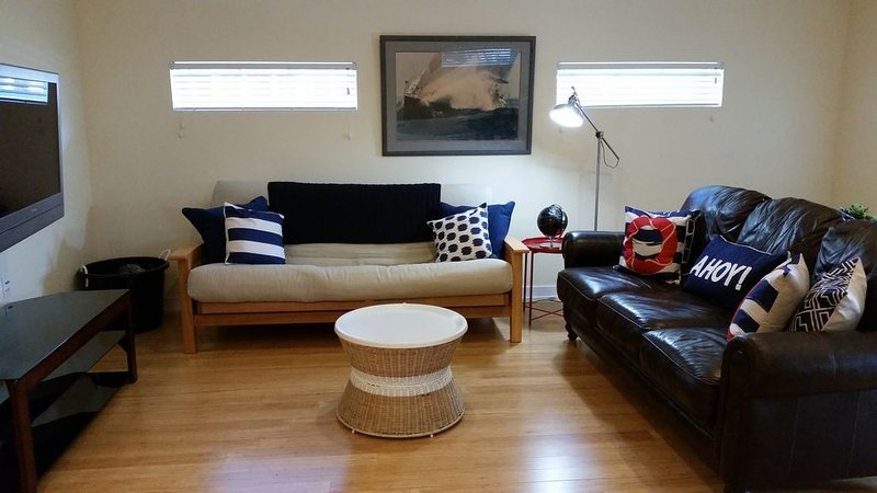 Main living area has pull-out futon (full sized) for optional sleeping for 2