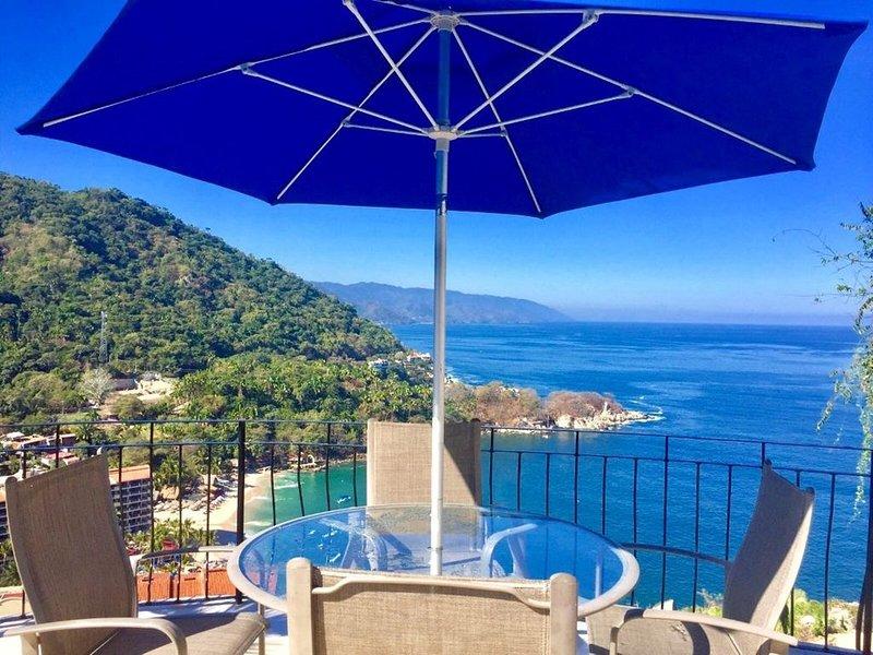 Villas Altas Mismaloya Pent House 3 bedroom ocean & beach views, holiday rental in Cabo Corrientes