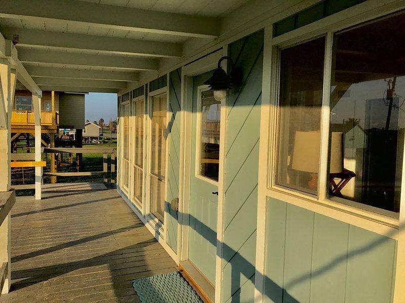 Das Pelican Cottage verfügt über eine tolle Terrasse mit Blick auf das Meer