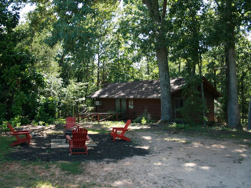 Cabin in the woods on the edge of a cove of Lake Hartwell, vacation rental in Hartwell