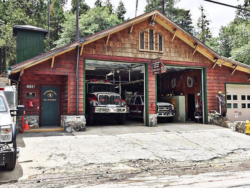 The town fire station is only a few blocks away!