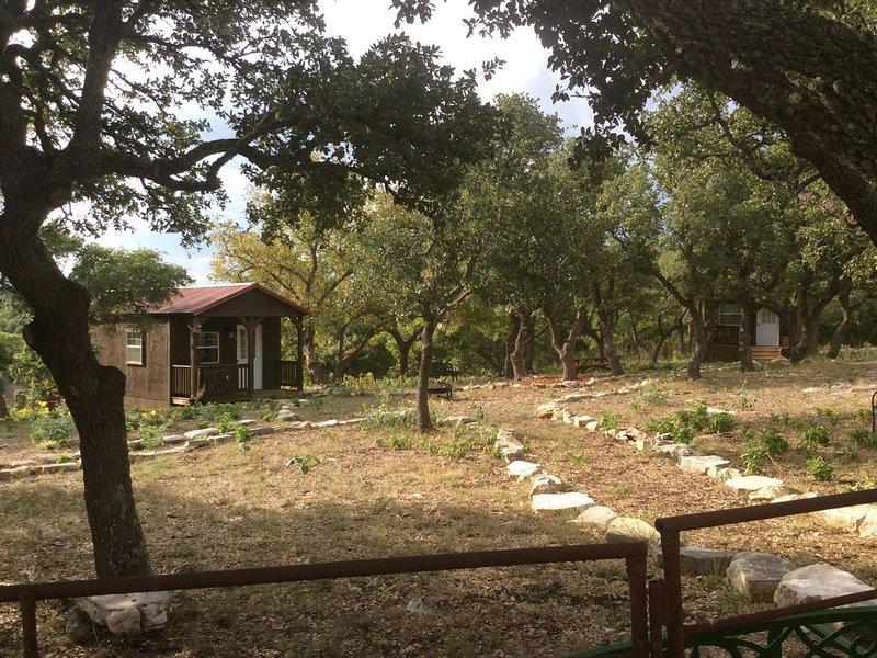 1 Room Cabin getaway, quiet country views, wildlife, picnic benches pet friendly, alquiler vacacional en Center Point