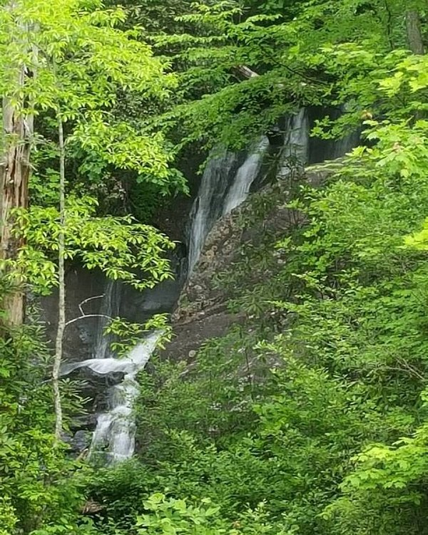 Explore Leatherwood Falls only a few miles up the road.