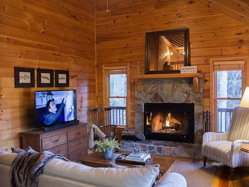 Lake Hideaway - Luxury, Lakeside, Mountain Views, Dock, Fishing, Canoeing, vacation rental in Cherrylog