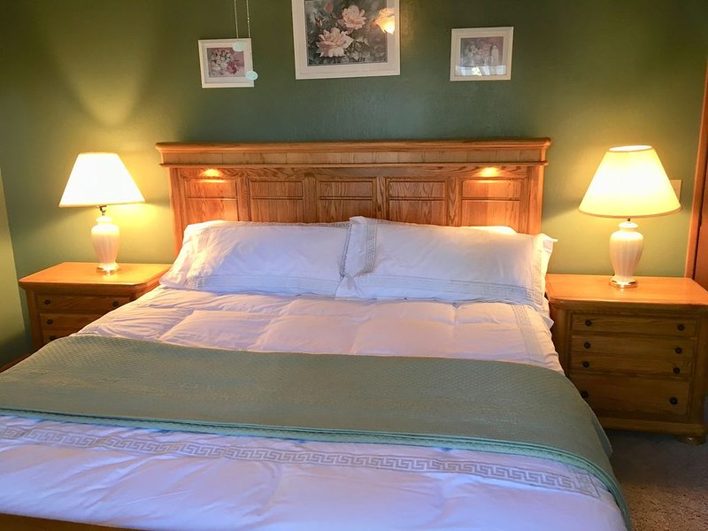 Cozy and Clean 4BR Cabin w/Treetop Lakeview & Outdoor Spa, location de vacances à Green Valley Lake