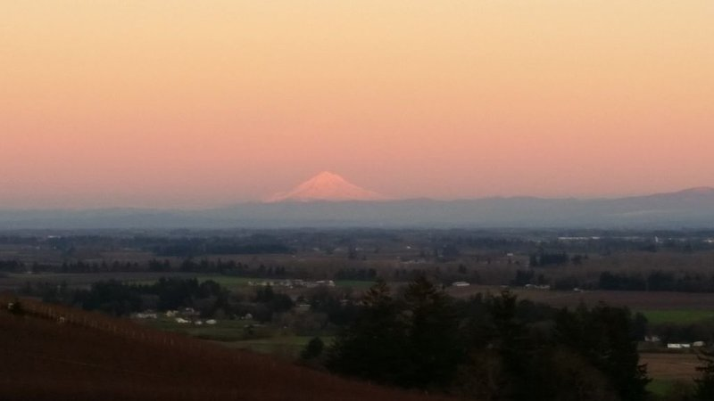 View of Mount Hood During Sunrise