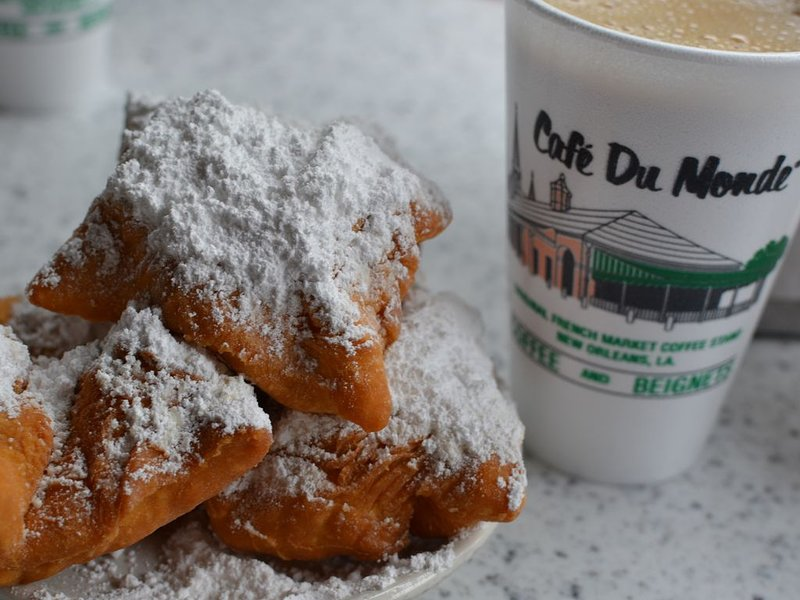 Delicious beignets nearby