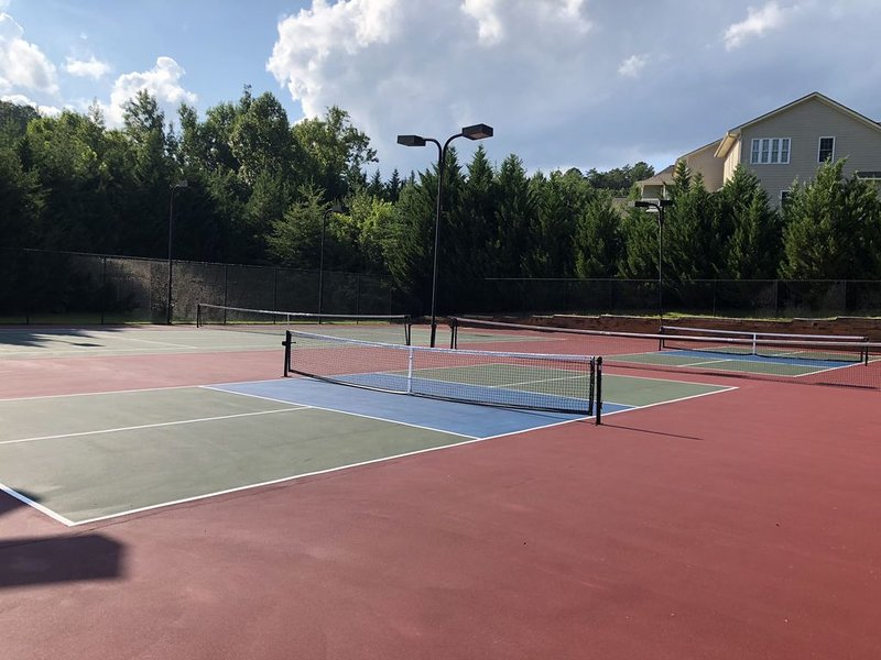 Lighted tennis & pickle ball courts