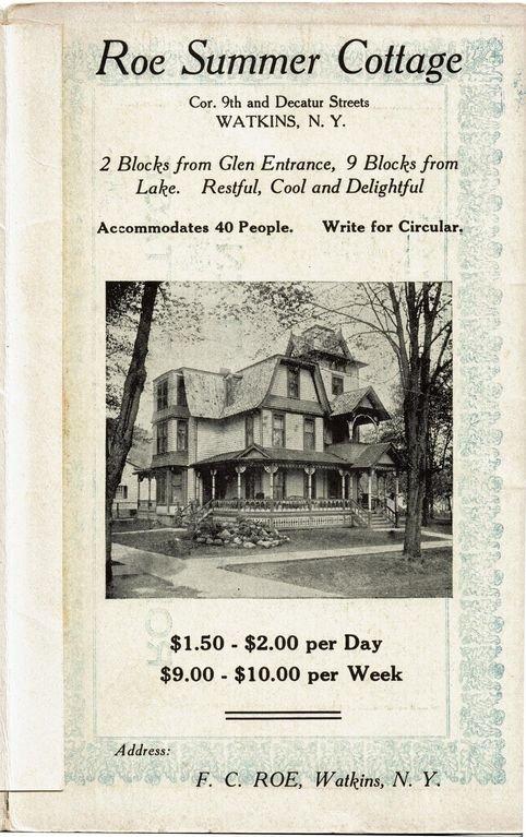Carte postale publicitaire originale pour Roe Summer Cottage