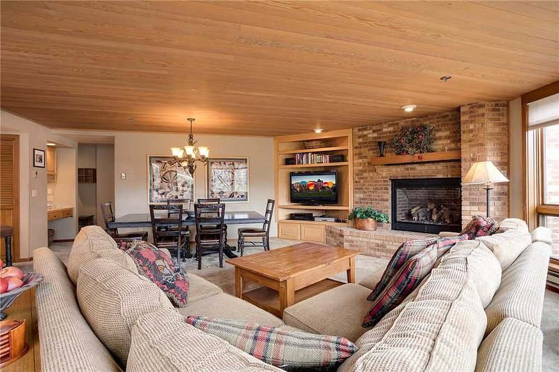 Living Room with Gas Fireplace and Flat Screen