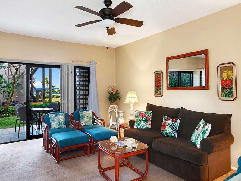 Comfy Ground Floor Condo w/Lanai, Updated Kitchen, Flat Screen, WiFi–Kaha Lani 1, holiday rental in Lihue