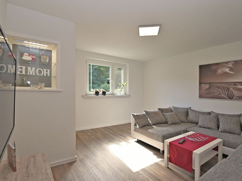 Modern and lightly-furnished holiday home in Harz with garden and terrace, vacation rental in Rubeland