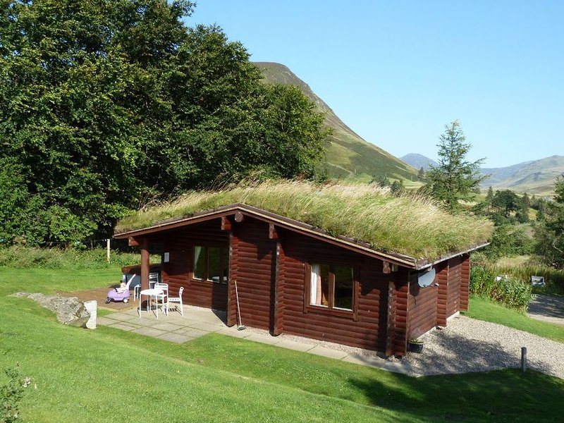 Log Cabin with Hot Tub | Sleeps 4 | In the Cairngorm National Park | Accepts Dog, holiday rental in Kirkmichael