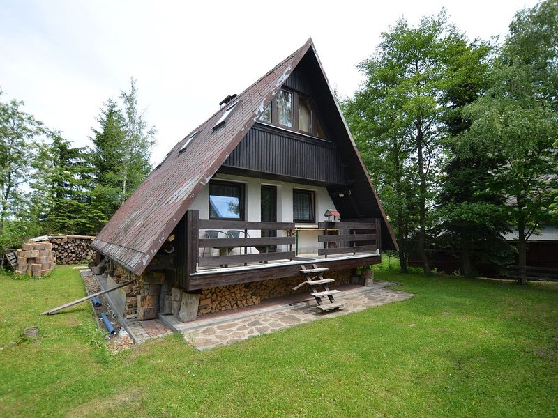 Nice holiday home with fireplace in the Ore Mountains only 500m from the chairli, location de vacances à Joehstadt