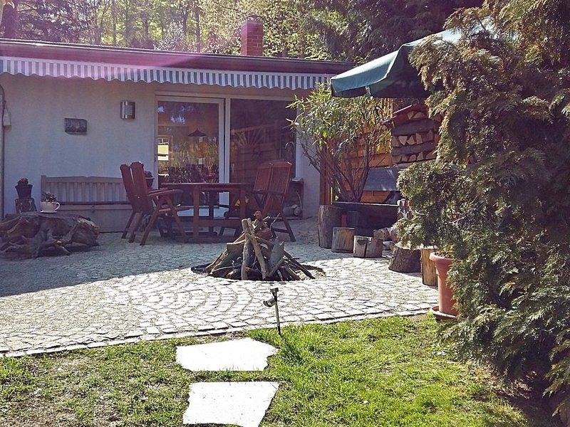 Holiday home in the beautiful Harz region with wood stove, large terrace, barbec, Ferienwohnung in Sachsen-Anhalt