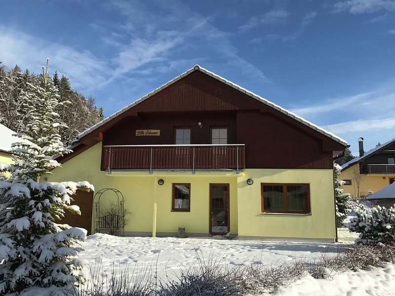 A beautiful villa at the Lipno Lake with ski pistes at walking distance, casa vacanza a Horni Plana