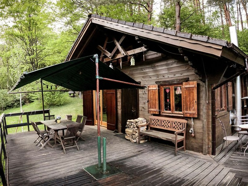 Cozy Chalet in Bousseviller Lotharingen with Private Sauna, holiday rental in Dambach
