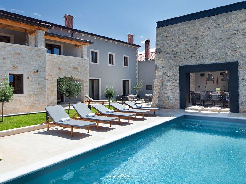 Modern villa with private pool near Porec, aluguéis de temporada em Fabci