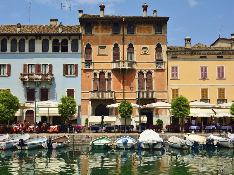 The inner port of Desenzano del Garda