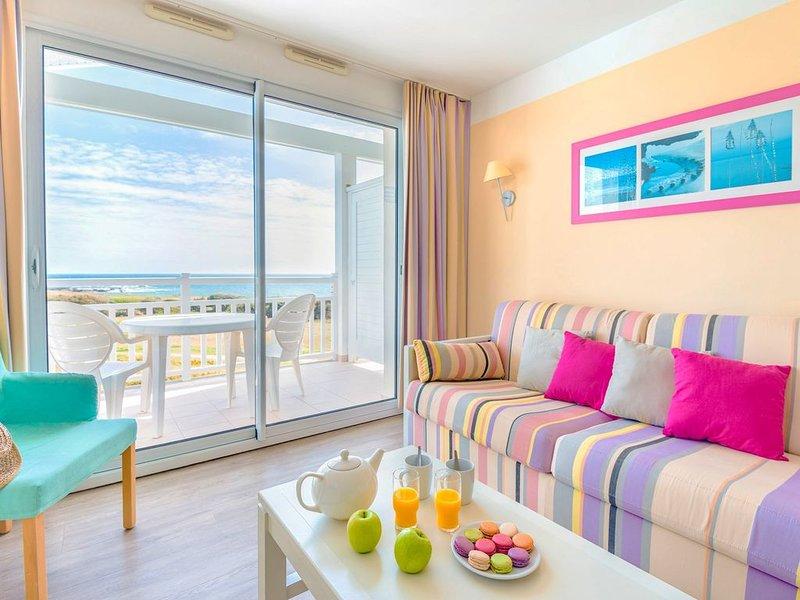 Studio cosy pour 2 avec vue magnifique sur la mer!, location de vacances à Chateau-d'Olonne