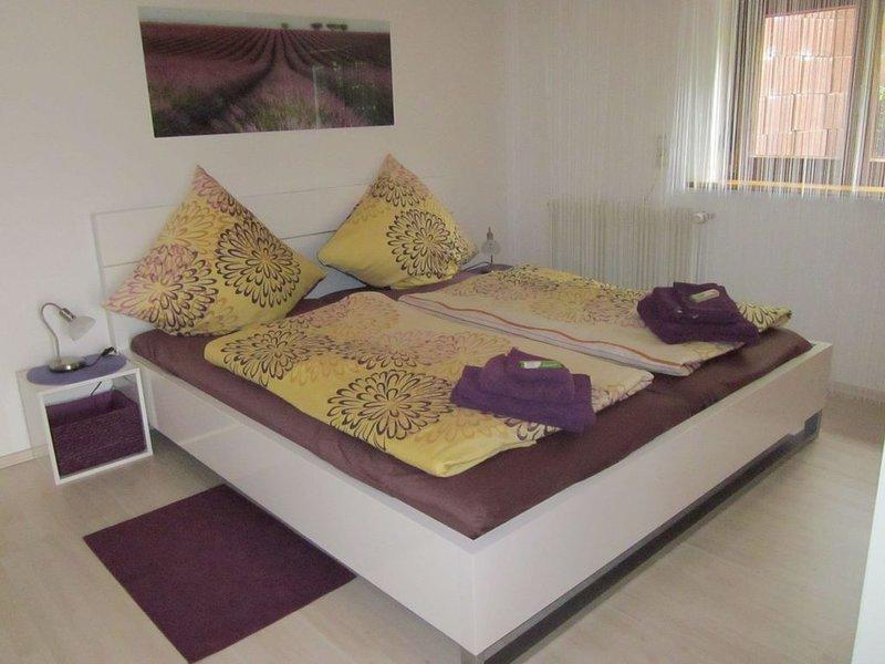 Ferienwohnung Bambusgarten, 60qm mit Terrasse und 1 Schlafzimmer für max. 2 Pers, holiday rental in Moetzingen