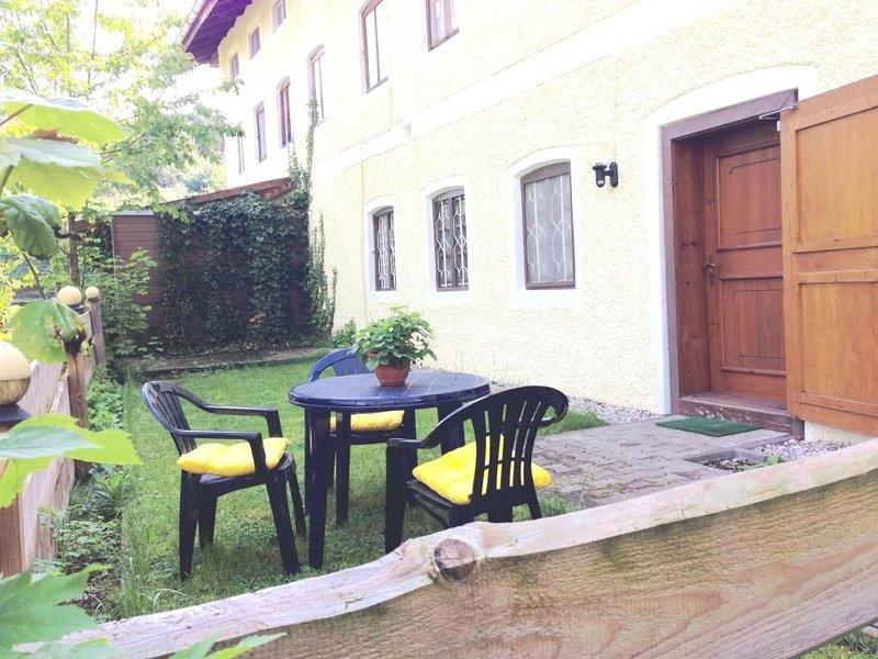 Apartment mit Garten, location de vacances à Trostberg an der Alz