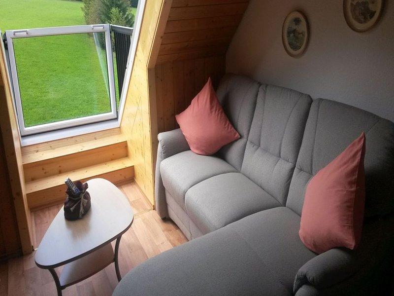 Nichtraucher-Ferienwohnung mit ca. 45qm, 2 Schlafräume, 1 Wohnraum, für maximal, aluguéis de temporada em St. Georgen im Schwarzwald