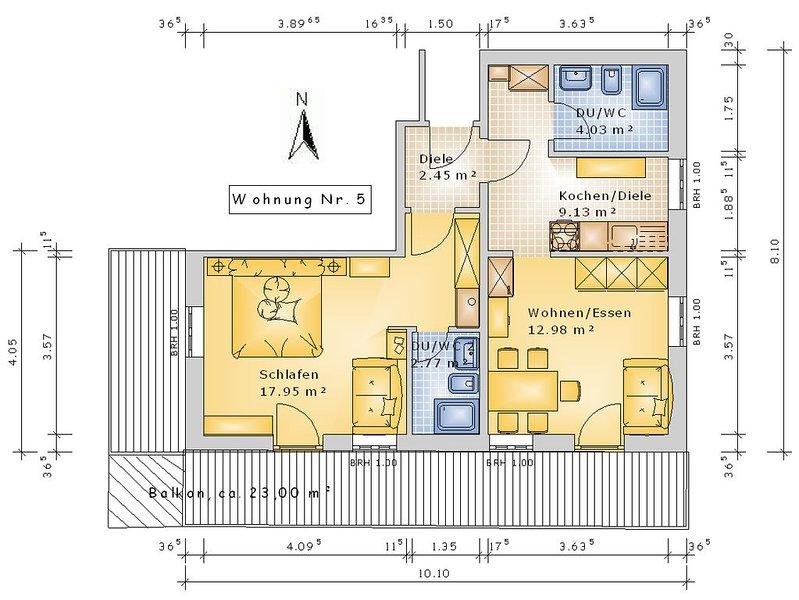 Ferienwohnung (5) ca. 60 qm mit Balkon, Ferienwohnung in Reit im Winkl