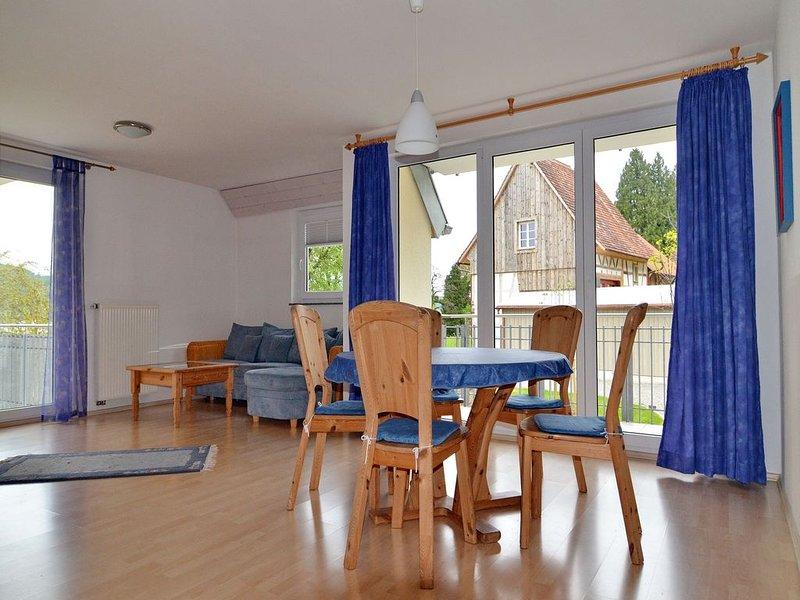 Appartement op de 1e verdieping, 80m², 1 slaapkamer, 1 woon / slaapkamer, max. Woon- / slaapgedeelte voor 5 personen