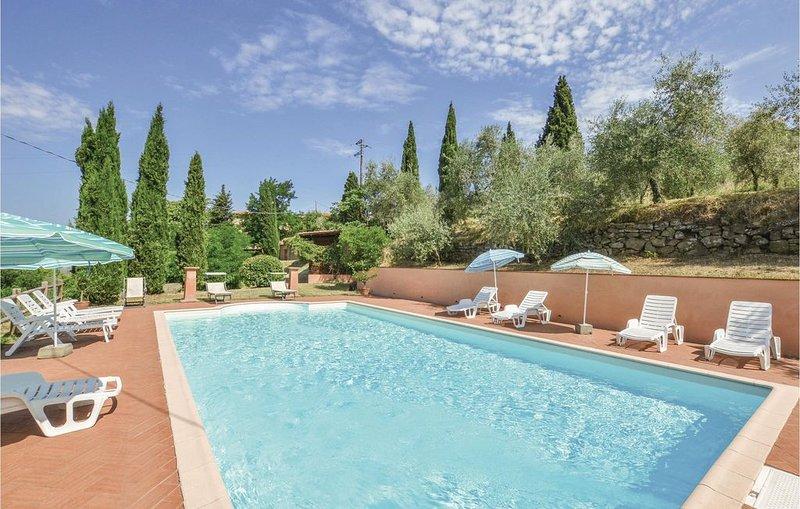6 Zimmer Unterkunft in Reggello -FI-, vacation rental in Cancelli