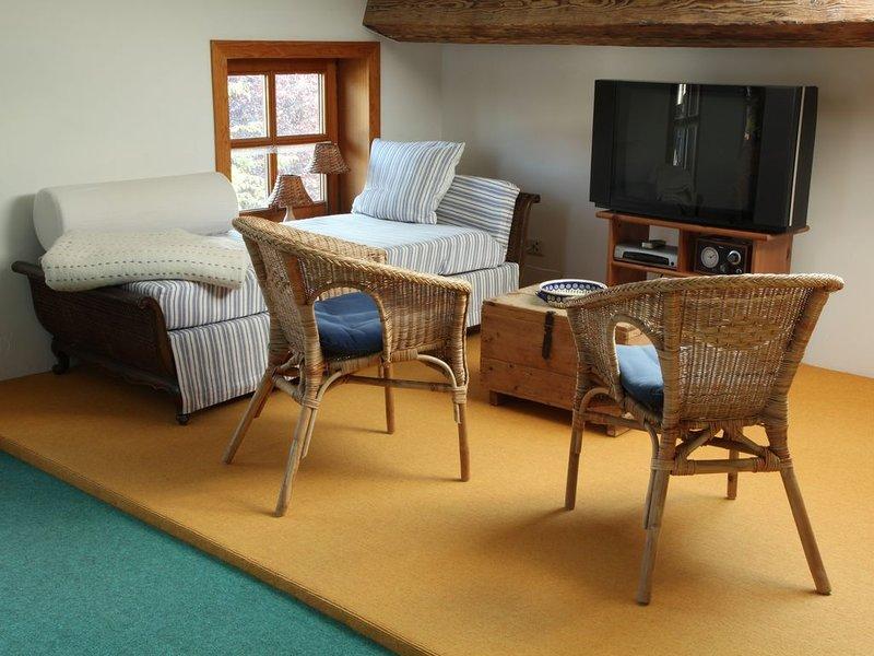 Ferienwohnung bis 4 Personen im 2. Stock, 48 qm, Balkon, vakantiewoning in Fischbachau