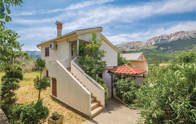2 Zimmer Unterkunft in Bascanska Draga, holiday rental in Draga Bascanska