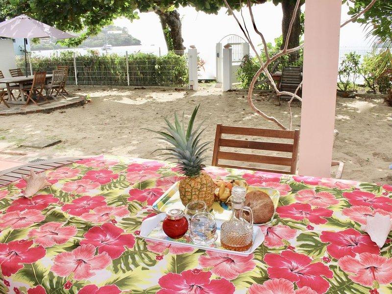 Villa Bougainvillier, Ravissant Studio 'Plage' au bord de l'eau, holiday rental in La Pagerie