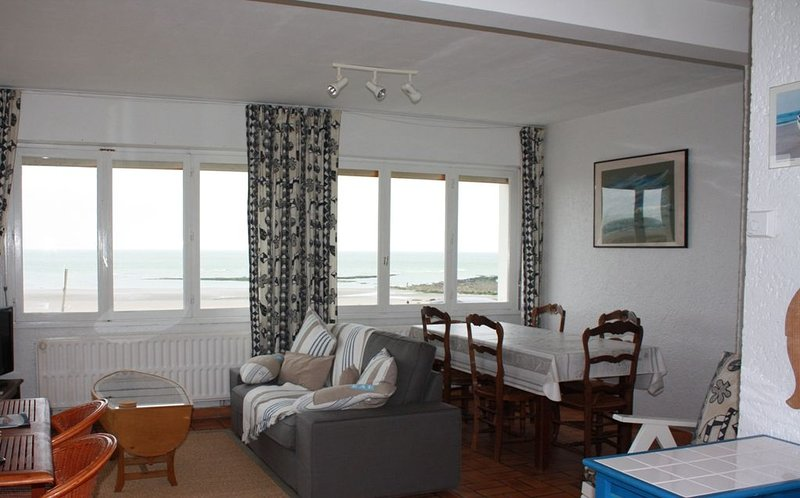 Ambleteuse, Côte d'opale: appartement 4 personnes face à la mer., location de vacances à Audresselles