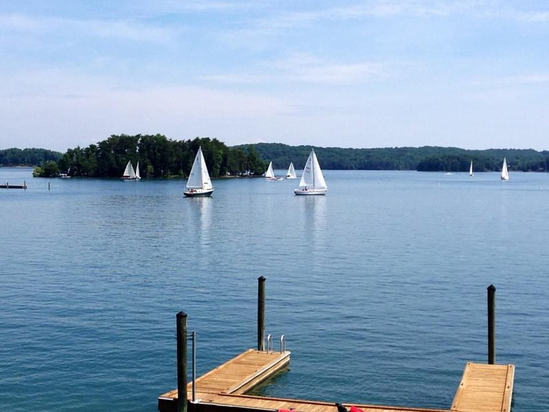 We often see sailboats and races since the VA Sail Club is right next door.