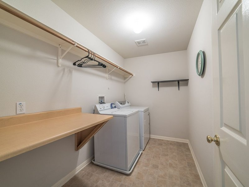 Laundry room for your convenience.