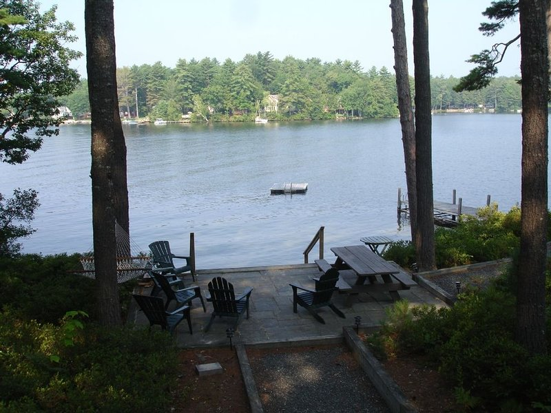 View From Deck Looking Towards Patio and the Lake