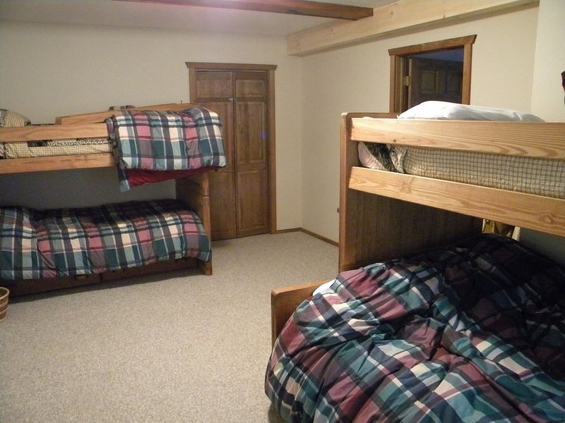 Bunkroom for the kids on the ground floor