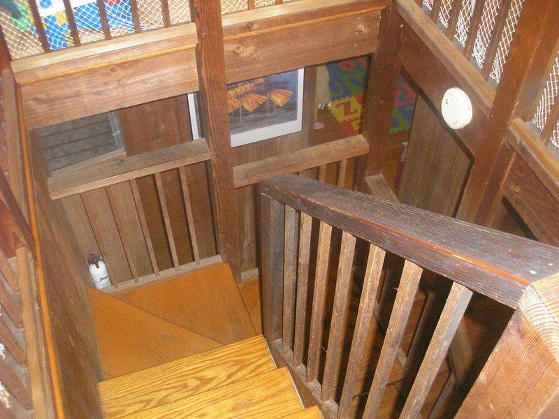 utsikt från toppen av trappan
